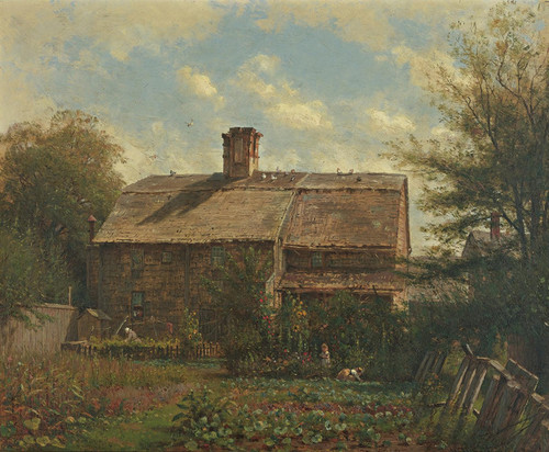 Art Prints of Old House, Newport by Worthington Whittredge