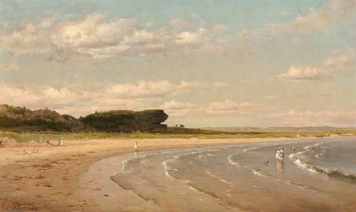 Art Prints of Second Beach, Newport by Worthington Whittredge