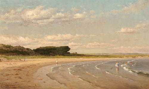 Art Prints of Second Beach, Newport by Worthington Whittredge