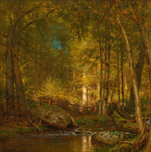 Art Prints of Sunlight in the Forest by Worthington Whittredge