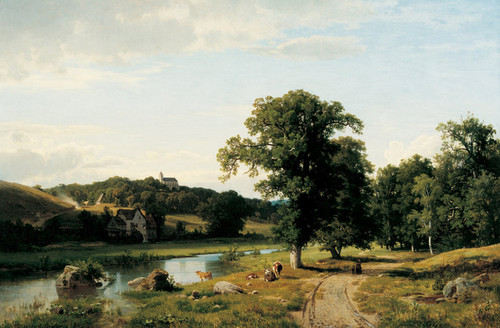 Art Prints of The Mill by Worthington Whittredge