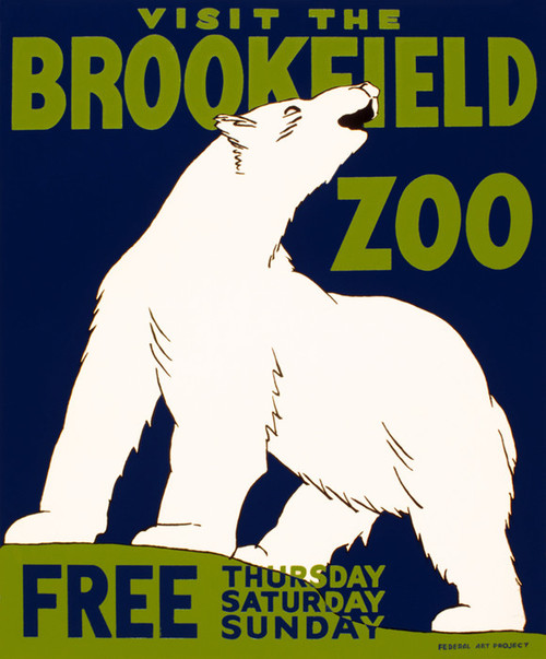 Art Prints of Visit the Brookfield Zoo, 1936, WPA Poster