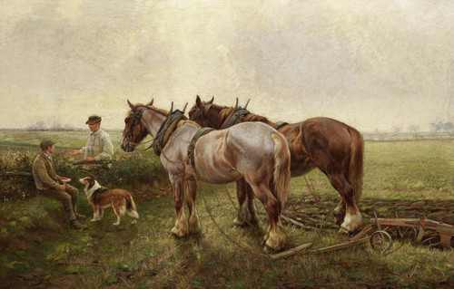 Art Prints of A Rest from the Toil by Wright Barker