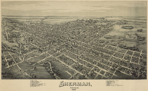 Art Prints of Sherman, Texas in 1891 by an Unknown Artist