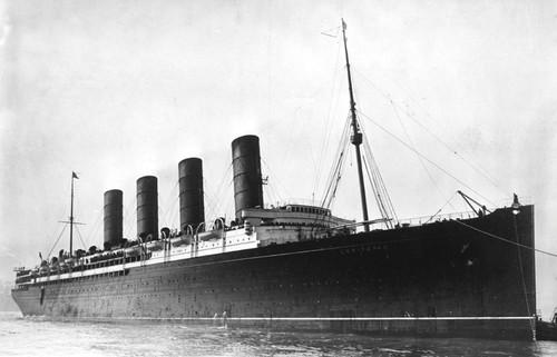 Art Prints of R.M.S. Lusitania Coming into Port