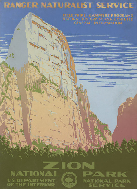 Art Prints of Zion National Park, Ranger Naturalist Service (399099), Travel Poster