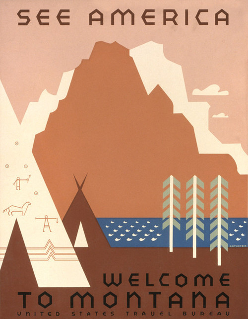 Art Prints of See America, Welcome to Montana (399156), Travel Poster