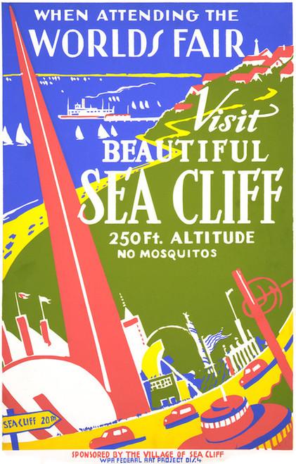 Art Prints of Visit Beautiful Sea Cliff (399171), Travel Poster