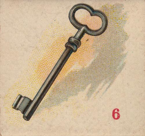 Art Prints of Game Piece, Skeleton Key, Vintage Game Pieces & Playing Cards