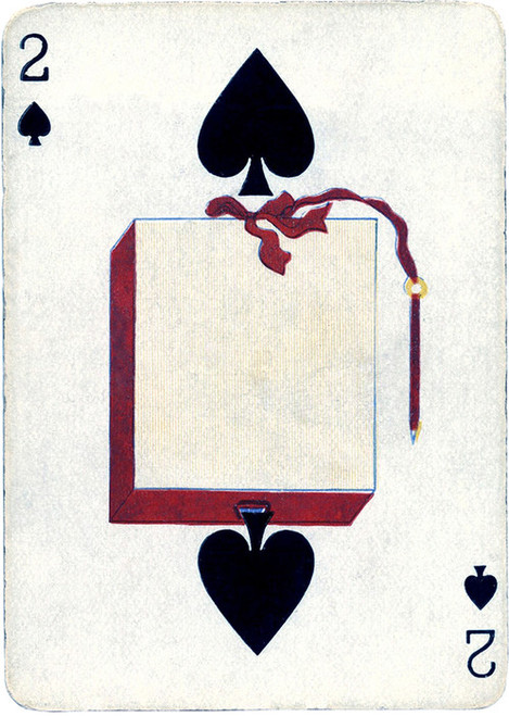 Art Prints of Playing Card, 2 of Spades, Vintage Game Pieces & Playing Cards