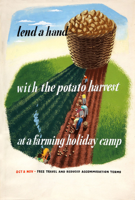 Art Prints of Lend a Hand with the Potato Harvest, II, War & Propaganda Posters