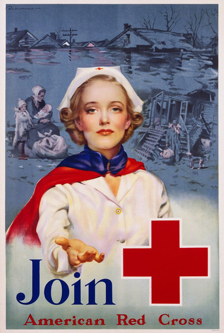 Art Prints of Join the American Red Cross, War & Propaganda Posters