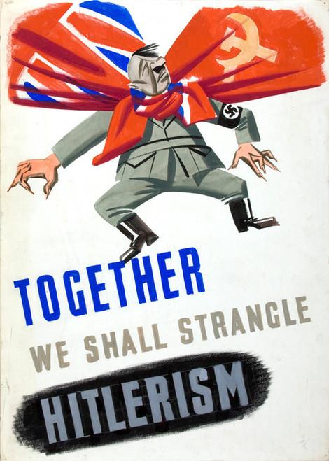 Art Prints of We Shall Strangle Hitlerism, War & Propaganda Posters