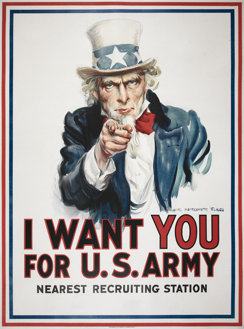 Art Prints of I Want You for the U.S. Army, War & Propaganda Posters