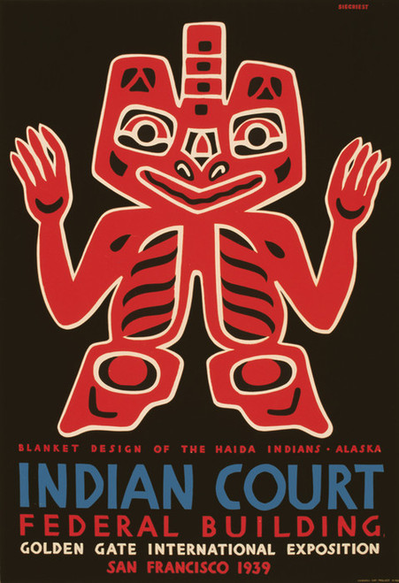 Art Prints of Blanket Design of the Haida Indians, Travel Posters
