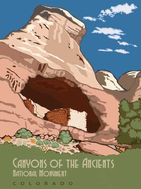 Art Prints of Canyons of the Ancients, National Monument in Colorado, Travel Posters