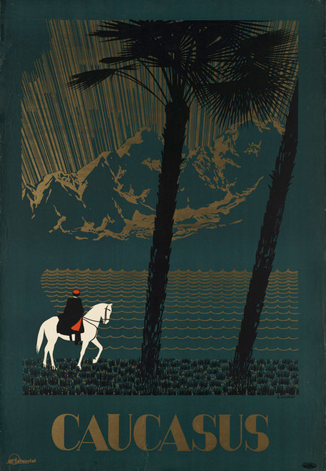 Art Prints of Caucasus, Tourist Poster, U.S.S.R., Travel Posters