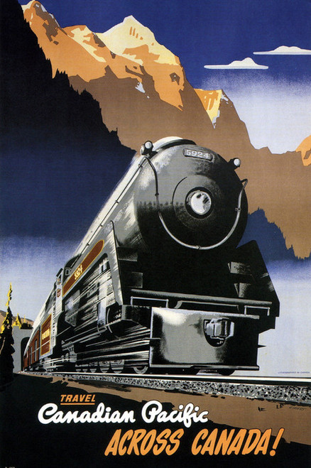 Art Prints of Canadian Pacific Railroad, Travel Posters