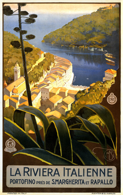 Art Prints of La Riviera Italienne Travel Poster, Travel Posters