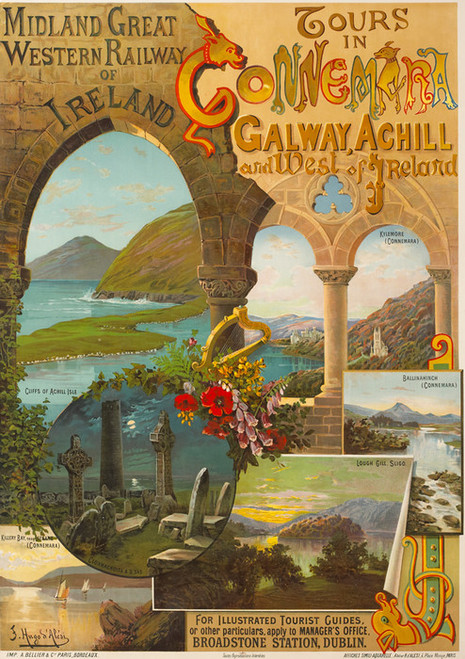 Art Prints of Midland and Great Western Railway Poster of Ireland, Travel Posters