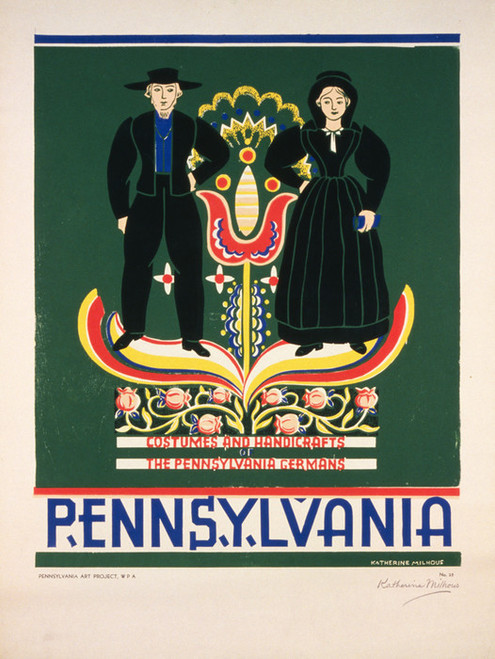 Art Prints of Poster Promoting Lancaster County Pennsylvania, Travel Posters