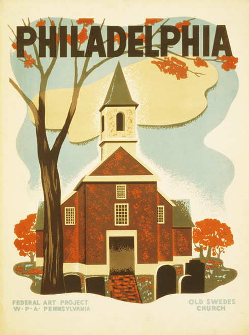 Art Prints of Philadelphia Poster Promoting Tourism, Travel Posters