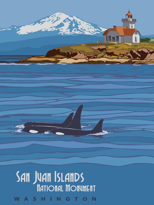 Art Prints of San Juan Islands, National Monument, Travel Posters