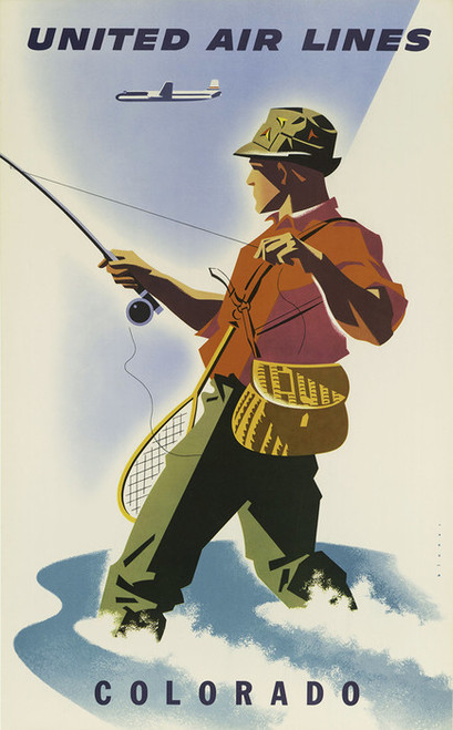 Art Prints of United Air Lines, Colorado, Travel Posters