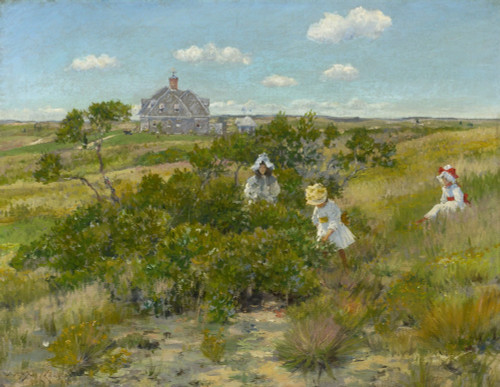 Art Prints of The Big Bayberry Bush by William Merritt Chase