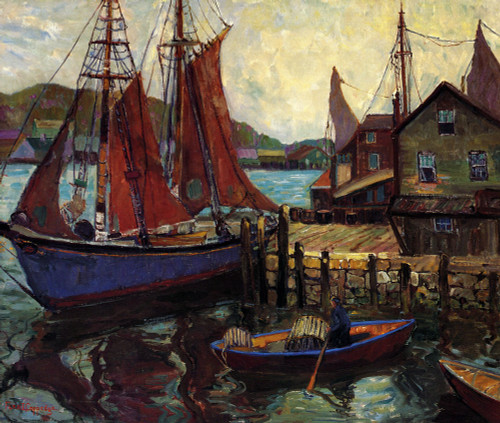 Art Prints of Lobster Cove by Fern Coppedge