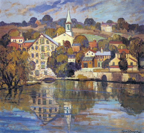 Lambertville on the Delaware, 1928 by Fern Coppedge