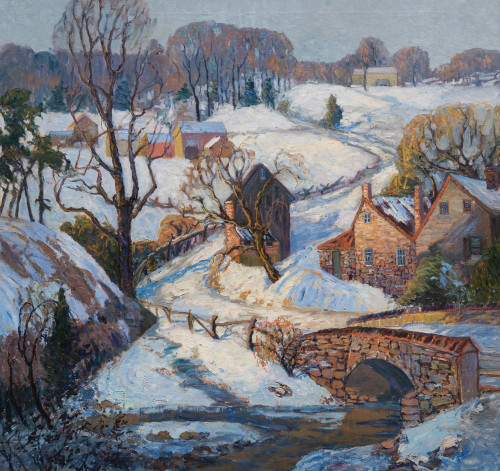 Art Prints of Back Road to Pipersville by Fern Coppedge