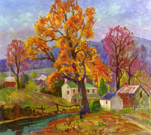 Art Prints of Autumn in New Jersey by Fern Coppedge