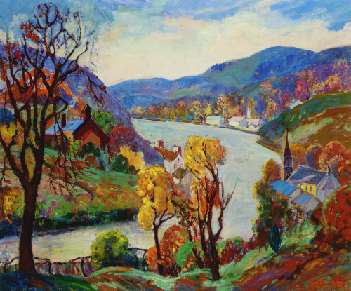 Along the Delaware at New Hope by Fern Coppedge