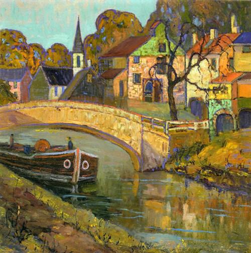 Art Prints of Canal Bridge, New Hope, Pennsylvania by Fern Coppedge