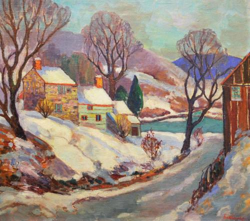 Art Prints of Lumberville Winter by Fern Coppedge