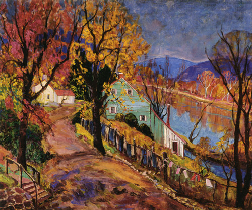 Art Prints of Lumberville October by Fern Coppedge