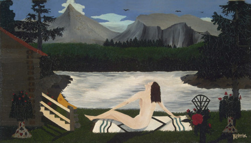 Lady by the Lake by Horace Pippin | Fine Art Print