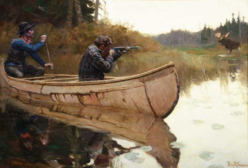 Art prints of Moose Hunters by Philip Goodwin
