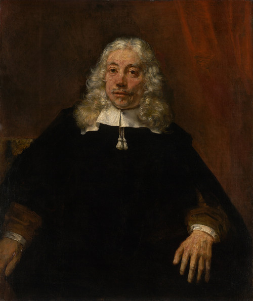 Art prints of Portrait of a White Haired Man by Rembrandt van Rijn
