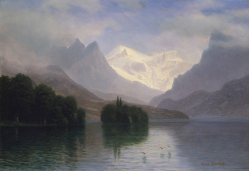 Mountain Scene by Albert Bierstadt | Fine Art Print