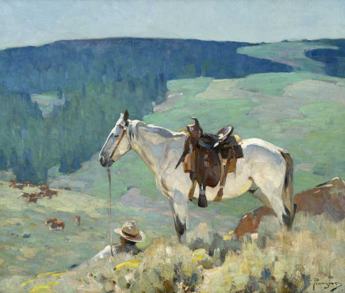 Art prints of On the Range by Carl Rungius