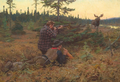 Art prints of Northwood King, Calling the Moose by Philip Goodwin