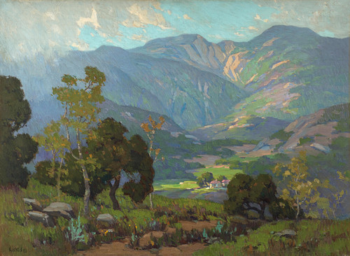 Art Prints of Home in the Valley by Elmer Wachtel