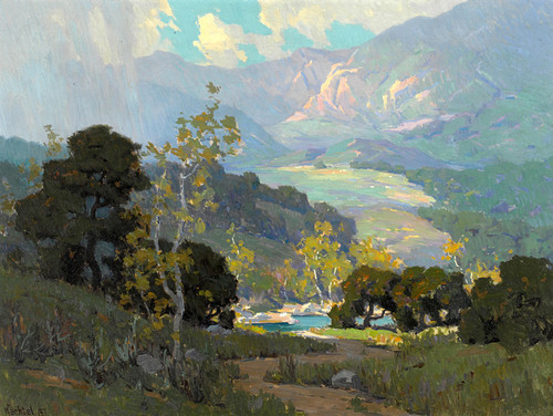 Art Prints of Misty Sunlight, Topanga by Elmer Wachtel