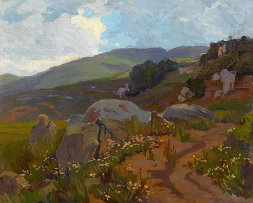 Art Prints of Mountain Path by Elmer Wachtel