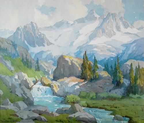 Art Prints of High Sierra Runoff by Elmer Wachtel