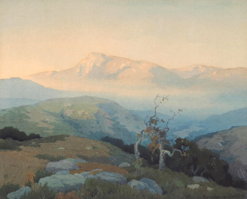 Art Prints of Landscape with Mountains by Elmer Wachtel