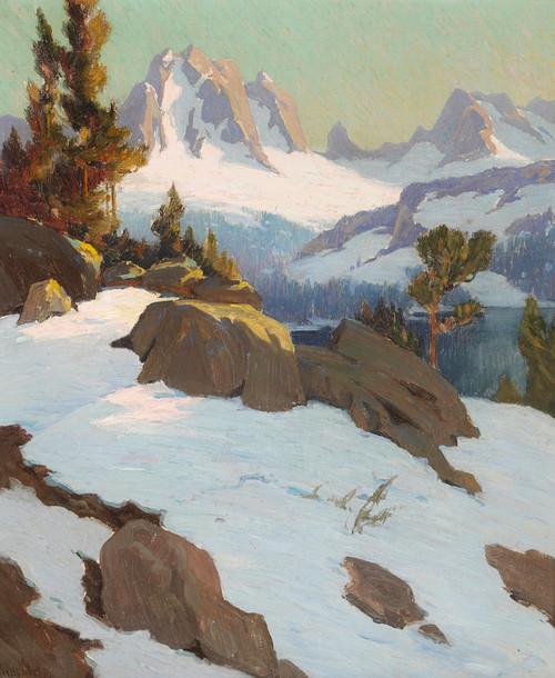 Art Prints of Sierras in Winter by Elmer Wachtel