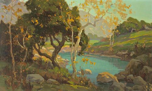 Art Prints of Early Autumn Pond by Elmer Wachtel